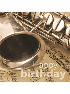 Birthday Card: Alto Saxophone  |
