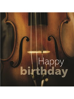 Birthday Card: Violin Close Up  |