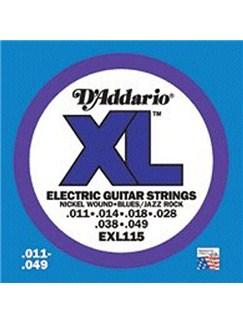 D'Addario: EXL115 Nickel Wound Electric Guitar Strings, Medium/Blues-Jazz Rock, 11-49  | Electric Guitar