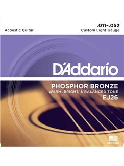 D'Addario: EJ26 Phosphor Bronze Acoustic Guitar Strings, Custom Light, 11-52  | Acoustic Guitar