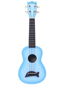 Makala: Soprano Ukulele - Light Blue/Dolphin Bridge Instruments | Ukulele