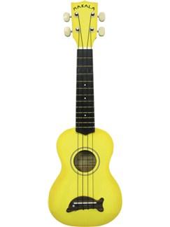 Makala: Soprano Ukulele - Yellow/Dolphin Bridge Instruments | Ukulele