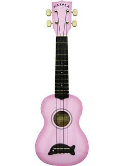 Makala: Soprano Ukulele - Pink/Dolphin Bridge Instruments | Ukulele
