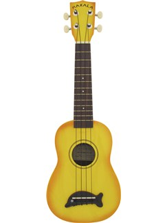 Makala: Soprano Ukulele - Orange/Dolphin Bridge Instruments | Ukulele