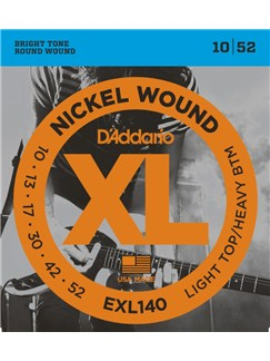 D'Addario: EXL140 Nickel Wound Electric Guitar Strings, Light Top/Heavy Bottom, 10-52  | Electric Guitar