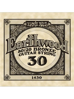 Ernie Ball: Earthwood 80/20 Bronze Single Acoustic Guitar String (.030)  | Acoustic Guitar
