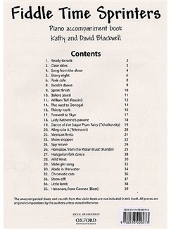 Kathy And David Blackwell: Fiddle Time Sprinters (Piano Accompaniments) Books | Piano Accompaniment