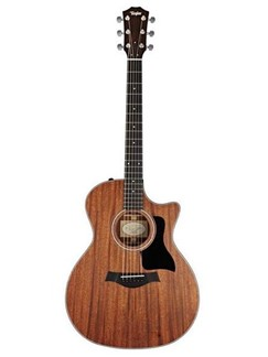 Taylor: 324CE Sapele Grand Auditorium Electro-Acoustic Guitar - Mahogany Instruments | Electro-Acoustic Guitar
