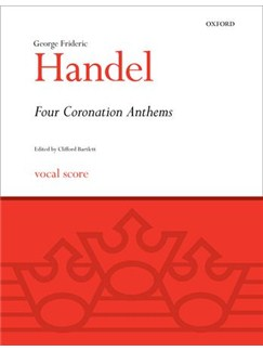 G.F. Handel: Four Coronation Anthems (Vocal Score) Books | SATB, Piano Accompaniment