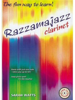 Sarah Watts: Razzamajazz Clarinet Books and CDs | Clarinet, Piano Accompaniment