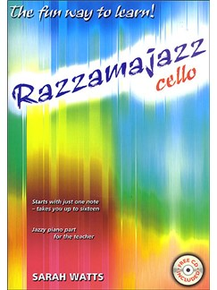 Sarah Watts: Razzamajazz Cello Books and CDs | Cello, Piano Accompaniment