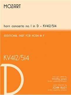 W.A. Mozart: Horn Concerto No 1 In D - KV412/514 Books | Horn