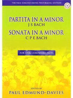 J.S. Bach/ C.P.E. Bach: Partita In A Minor/Sonata In A Minor Books and CDs | Flute