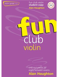 Alan Haughton: Fun Club Violin Grades 1 - 2 Student Copy Books and CDs | Violin