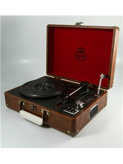 Protelx Limited: GPO Attaché Record Player - Vintage Brown  |