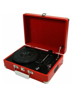 Protelx Limited: GPO Attaché Record Player - Pillarbox Red  |