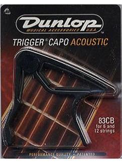 Dunlop: Acoustic Trigger Capo (Black)  | Acoustic Guitar