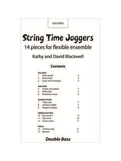 Kathy And David Blackwell: String Time Joggers (Double Bass Part) Books | Double Bass