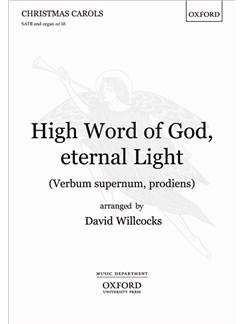 David Willcocks: High Word of God, Eternal Light (SATB) Books | SATB, Organ Accompaniment