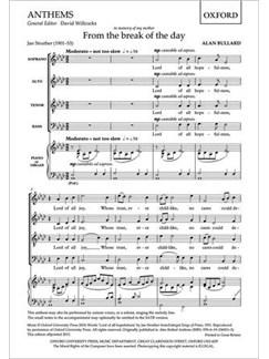 Alan Bullard: From The Break Of The Day Books | SAT, Piano Accompaniment, Organ Accompaniment