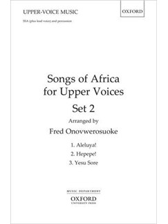 Songs of Africa for Upper Voices - Set 2 Books | SSA, Percussion
