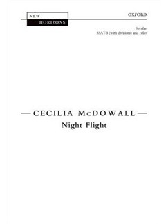 Cecilia McDowall: Night Flight Books | SATB, Cello