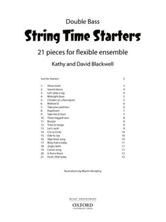 Kathy Blackwell/David Blackwell: String Time Starters - Double Bass Books | Double Bass