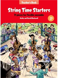 Kathy Blackwell/David Blackwell: String Time Starters - Teacher's Book (Book/CD) Books and CDs | String Ensemble