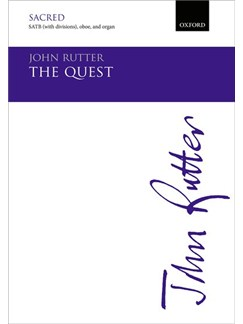 John Rutter: The Quest (Vocal Score) Books | SATB, Oboe, Organ Accompaniment