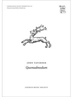 John Taverner: Quemadmodum Books | SATTBB, Choral