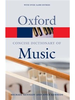 The Concise Oxford Dictionary Of Music (5th Edition) Books |