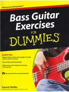 Bass Guitar Exercises For Dummies Books and CDs | Bass Guitar