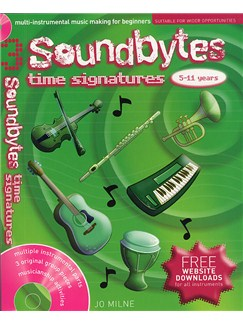Soundbytes: Book 3 - Time Signatures Books and CDs | Voice, Treble Clef Instruments, Piano Accompaniment