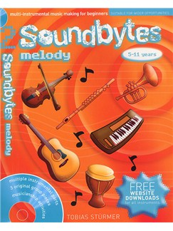 Soundbytes: Book 2 - Melody Books and CDs | Treble Clef Instruments, Piano Accompaniment