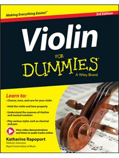 Katharine Rapoport: Violin For Dummies (Book/Online Video And Audio) Third Edition Books and Digital Audio | Violin