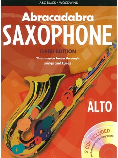 Abracadabra Saxophone - Third Edition (Book/2 CDs) Books and CDs | Alto Saxophone