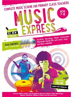 Music Express: Age 7-8 - Year 3 (Book/3CDs/DVD-ROM) Books, CD-Roms / DVD-Roms and CDs |