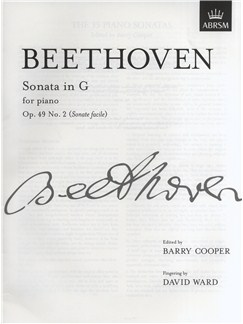 Ludwig Van Beethoven: Piano Sonata In G Op.49 No.2 (Sonate Facile) Books | Piano