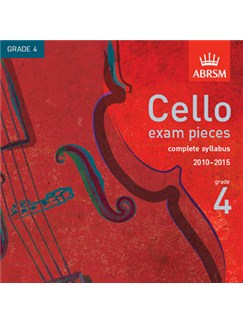 ABRSM Cello Exam Pieces CD - Grade 4 (2010-2015) CDs | Cello, Piano Accompaniment