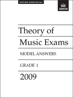 ABRSM Theory Of Music Exams 2009: Model Answers - Grade 1 Books |