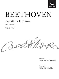 Ludwig Van Beethoven: Piano Sonata In F minor Op.2 No.1 Books   Piano