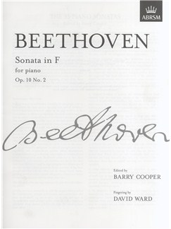 Ludwig Van Beethoven: Piano Sonata In F Op.10 No.2 Books | Piano