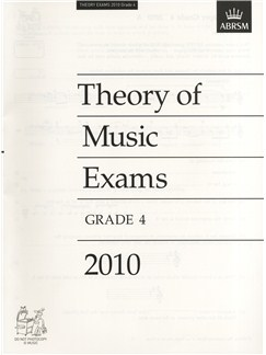 ABRSM Theory Of Music Exams 2010: Test Paper - Grade 4 Books |