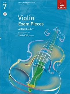 ABRSM: Selected Violin Exam Pieces - Grade 7 Book/CD (2012-2015) Books and CDs | Violin, Piano Accompaniment