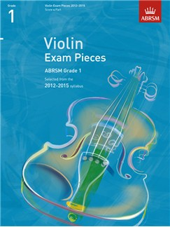 ABRSM: Selected Violin Exam Pieces - Grade 1 Book Only (2012-2015) Libro | Violín, Acompañamiento de Piano