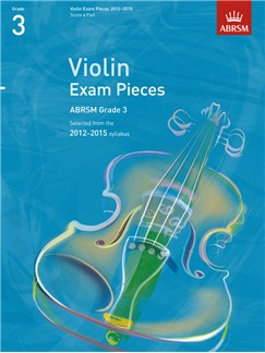 ABRSM: Selected Violin Exam Pieces - Grade 3 Book Only (2012-2015) Books   Violin, Piano Accompaniment
