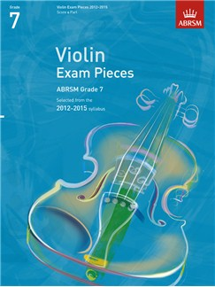 ABRSM: Selected Violin Exam Pieces - Grade 7 Book Only (2012-2015) Books | Violin, Piano Accompaniment
