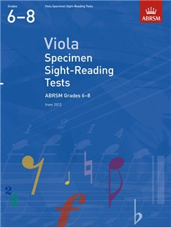 ABRSM: Viola Specimen Sight-Reading Tests - Grades 6-8 (From 2012) Books | Viola