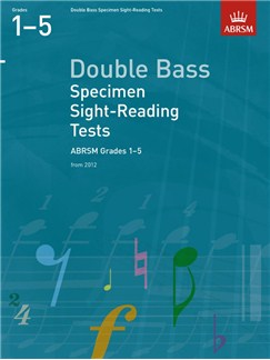 ABRSM: Double Bass Specimen Sight-Reading Tests - Grades 1-5 (From 2012) Books | Double Bass