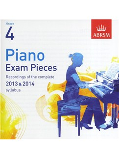 ABRSM Piano Exam Pieces: 2013-2014 (Grade 4) - CD Only CDs | Piano